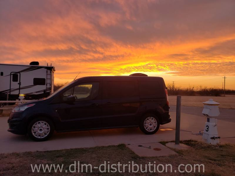 Mini T Campervan Texas  Sunrise