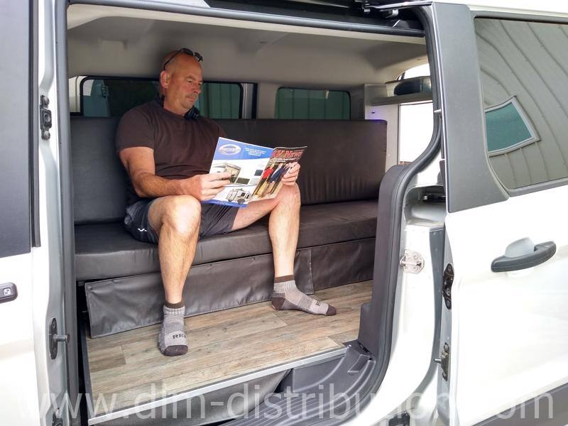 6' tall with plenty of sitting room in a Mini-T Camper