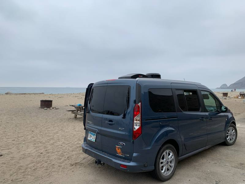 Mini-T Camper owner enjoying the beach!